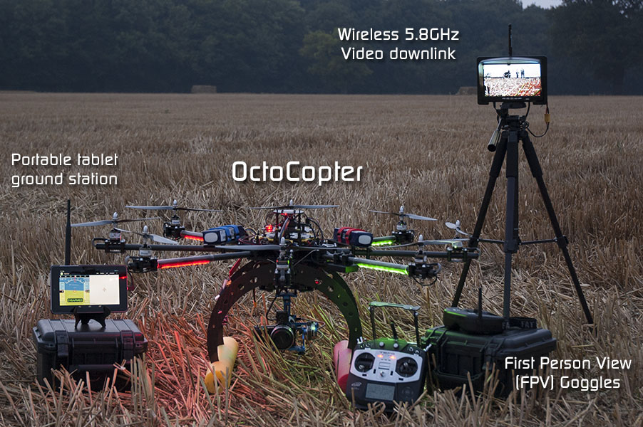 Aerial Drones OctoCopter